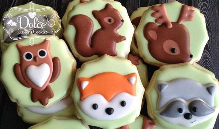 Dolce - woodland animal cookies