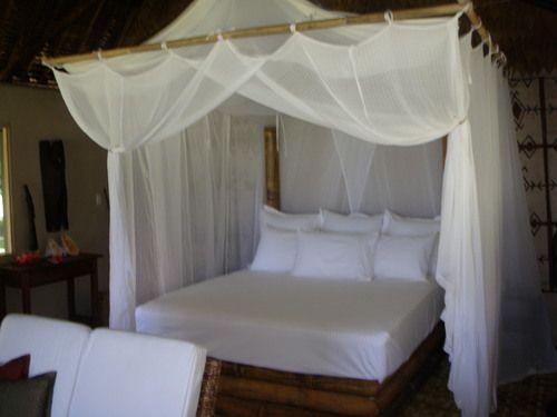 tropical dreamy white canopy bed tavanipupu island resort