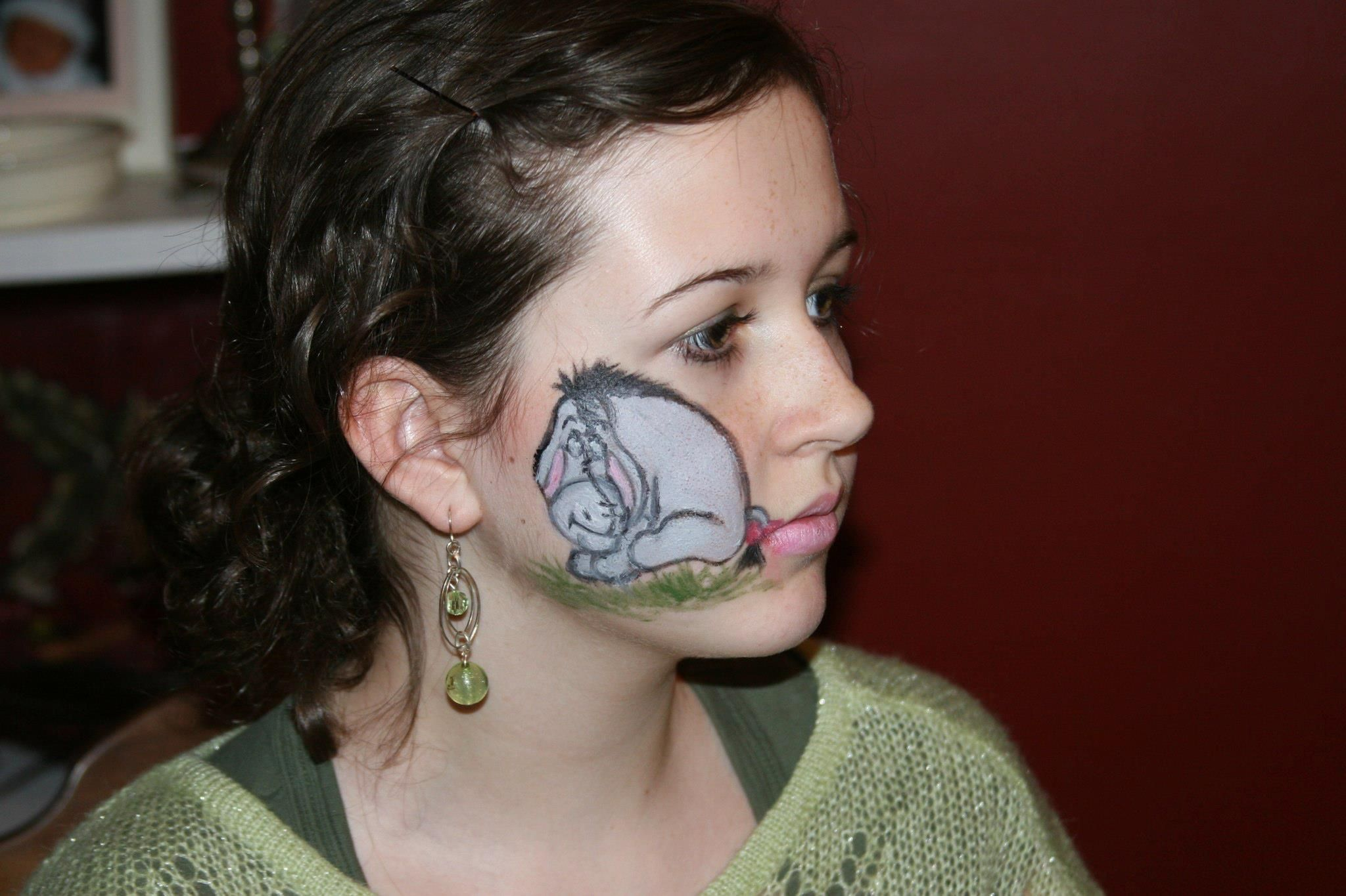 Face Painting Fun My Daughter Requested Eeyore Face Painting Face Painting