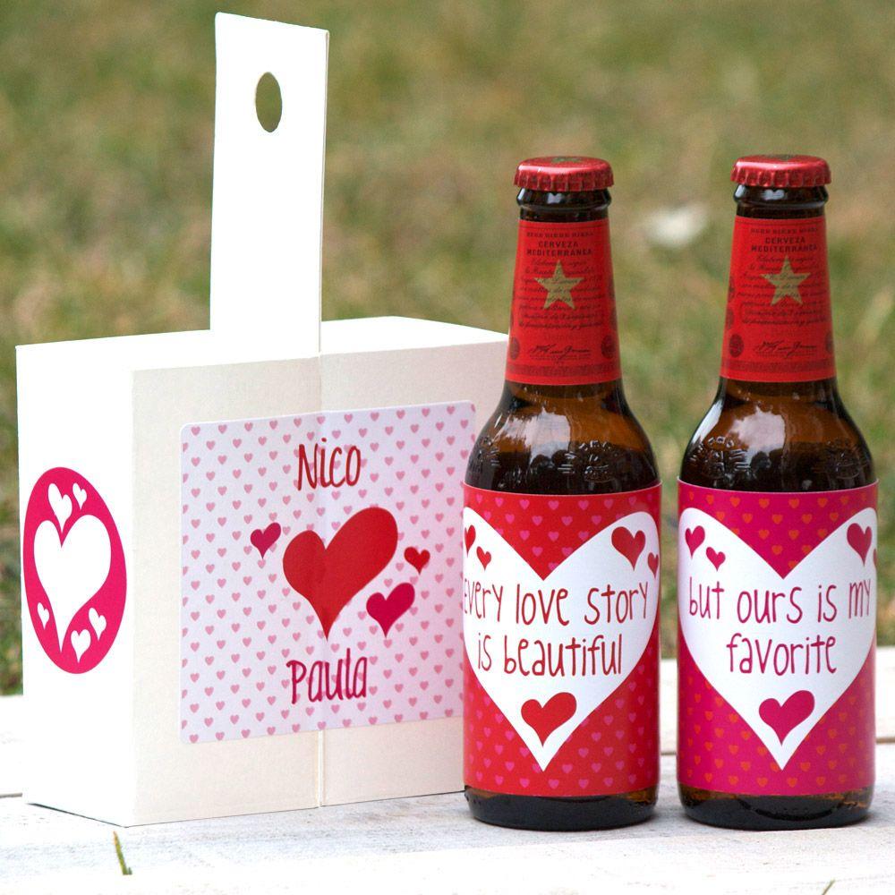 Kit cerveza fresquita para san valent n love story for Regalos originales decoracion