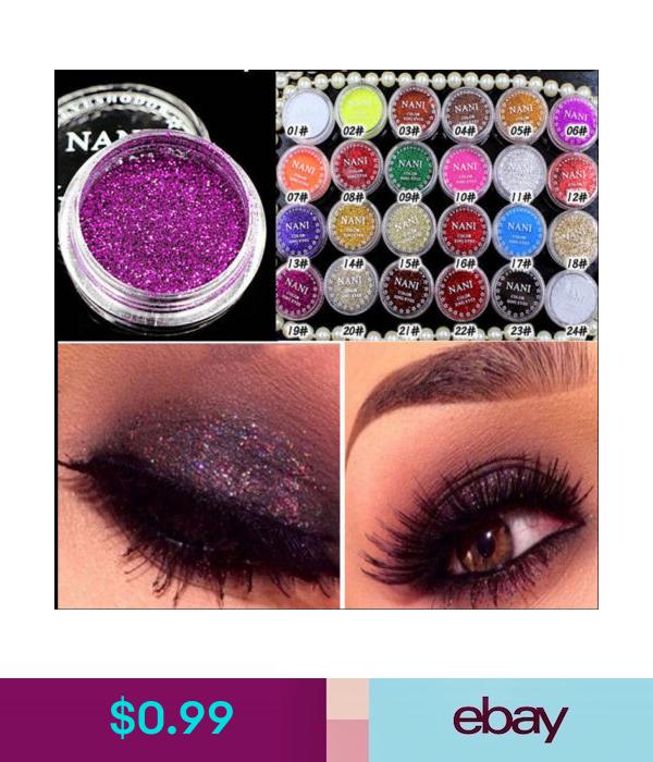 0.99 24 Mixed Color Glitter Powder Eyeshadow Makeup Eye