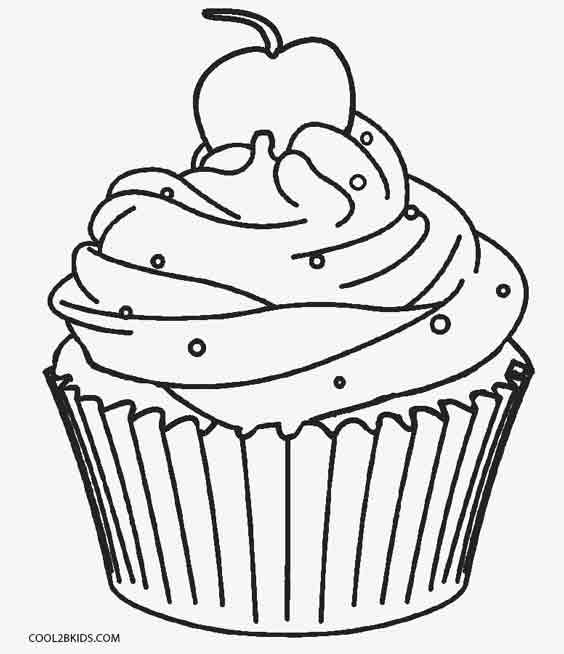 Awesome Coloring Pages Of Cupcakes