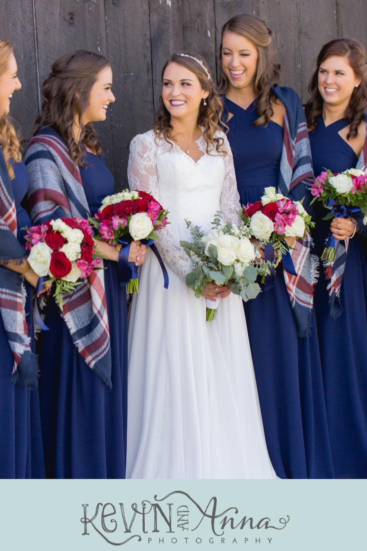 Gorgeous Outdoor Fall Wedding At Talon Winery In Lexington Kentucky Maroon Bridesmaid Dresses Bridesmaid Dress Colors Blue Wedding Dresses [ 1102 x 735 Pixel ]