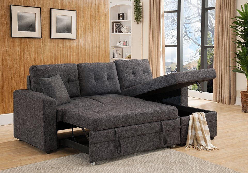 Reider Reversible Sleeper Sectional Fabric Sectional Sofas