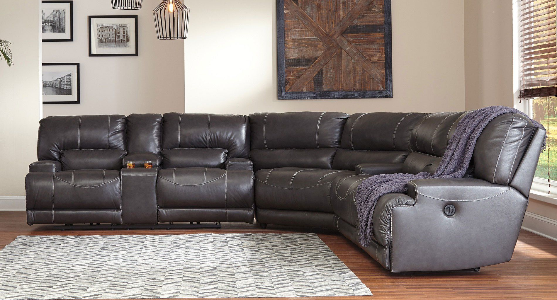 Mccaskill Gray Reclining Sectional In 2020 Reclining Sectional Build Your Own Sectional Sectional