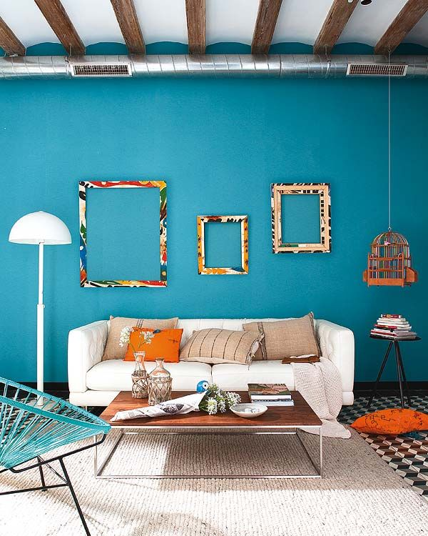 Retro Modern Infused Into Restored Barcelona Home Living Room Colors Turquoise Room Living Room Turquoise