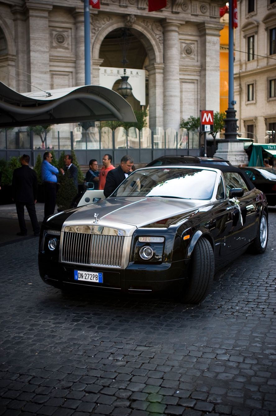 Rolls Royce - wedding car - Rome Boscolo Hotel