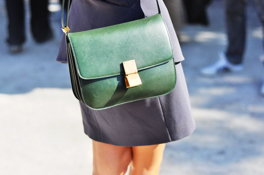8e2a21008bba celine box in vintage green
