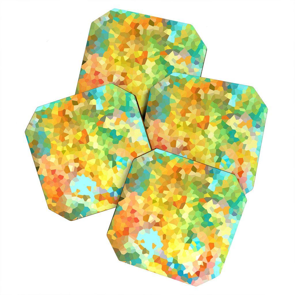 Rosie Brown Splattered Paint Coaster Set | DENY Designs Home Accessories   #coasters #beverage #bar #homedecor #denydesigns #art