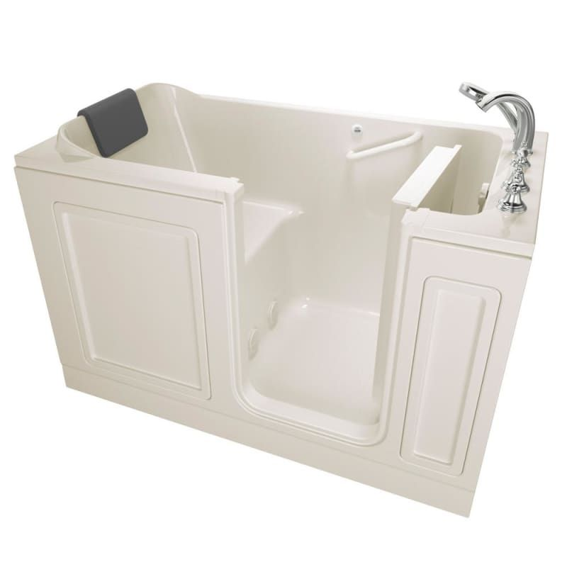 "American Standard 3260.219.SR Luxury 59-1/2"" Walk-In Soaking Bathtub with Right- Linen Walk In Tub Soaking Alcove"