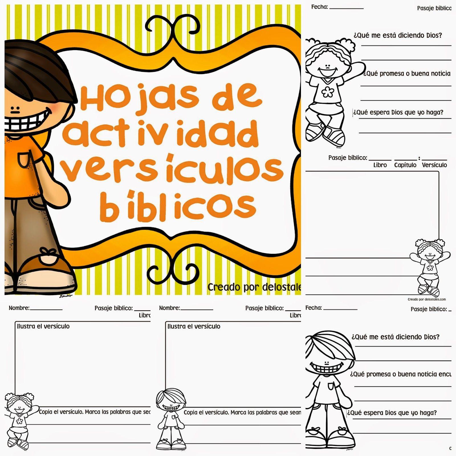 Hojas de actividad versículos bíblicos … | Escuela bíblica niño | Pinte…
