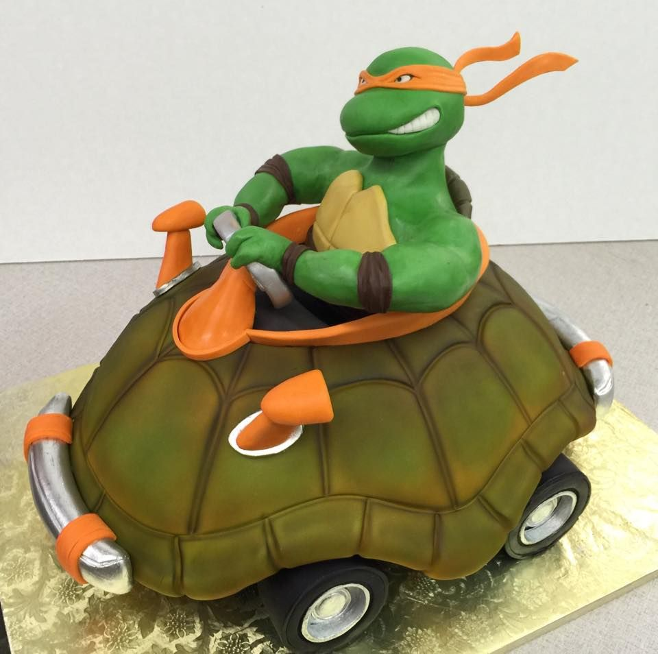 A go cartninja turtle theme party decorating cakes pinterest