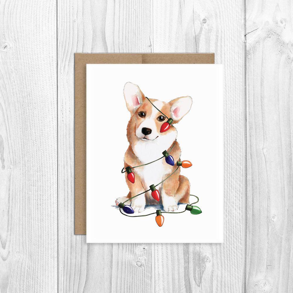 Corgi Christmas Cards By Morgan Swank Studio Otkrytki Korgi