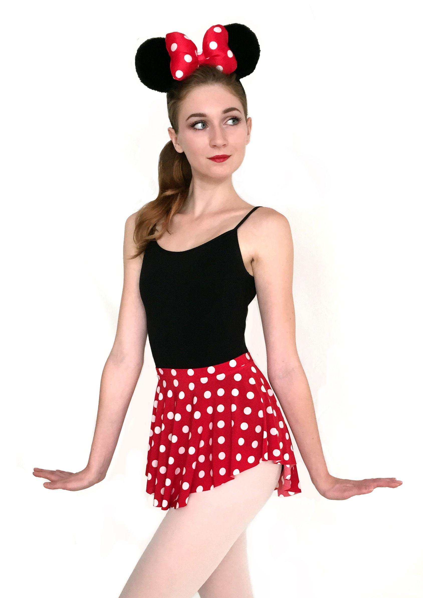 742d54d1bab9 CUTE! Minnie Mouse polka dot skirt