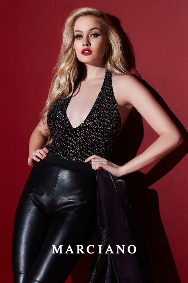 e11041df6979 The perfect bodysuit for every party this season from the Marciano Holiday   17 Collection.