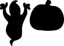 kid friendly halloween window silhouette--ghost with BOO