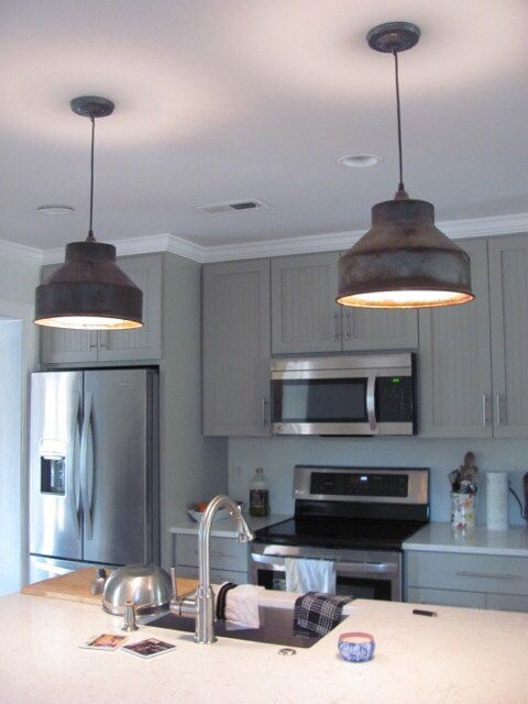 Industrial   Farmhouse Pendant Light   Upcycled   Pinterest     Milk Can Funnel Pendant Light