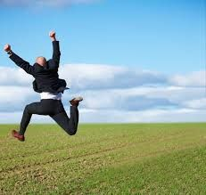 Yes - Successful business man jumping