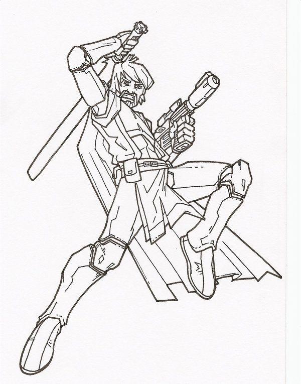 clone wars obi-wan by secowankenobi on DeviantArt LineArt Star - best of star wars coloring pages the force awakens