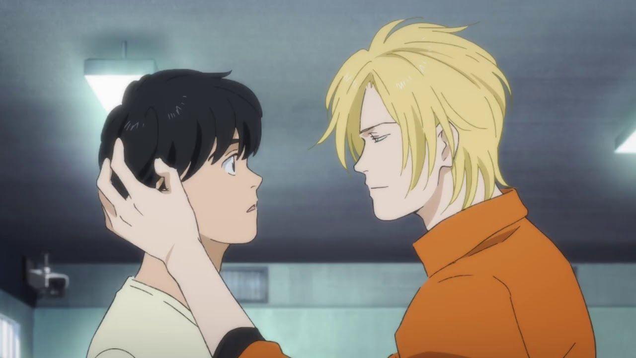 Ash Kissed Eiji For A Secret Mission Lol Banana Fish Anime Fish Anime Kiss