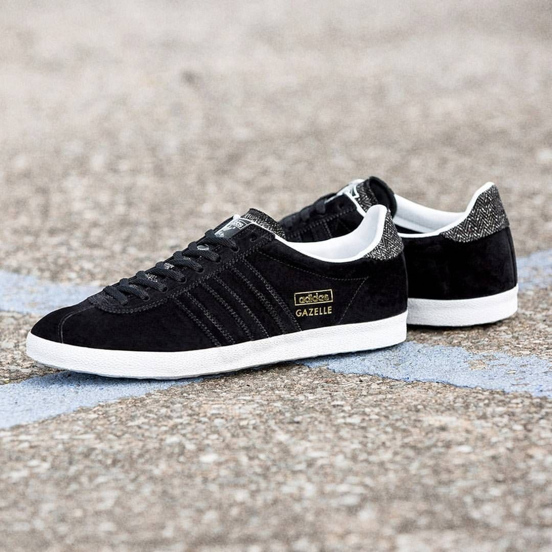 adidas originals gazelle og black leather