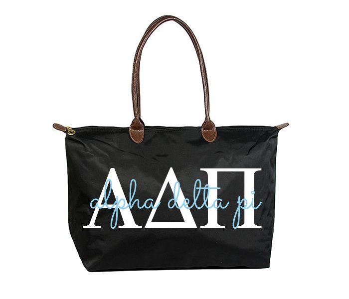 ADPi Classic Script Tote   Boutique Greek