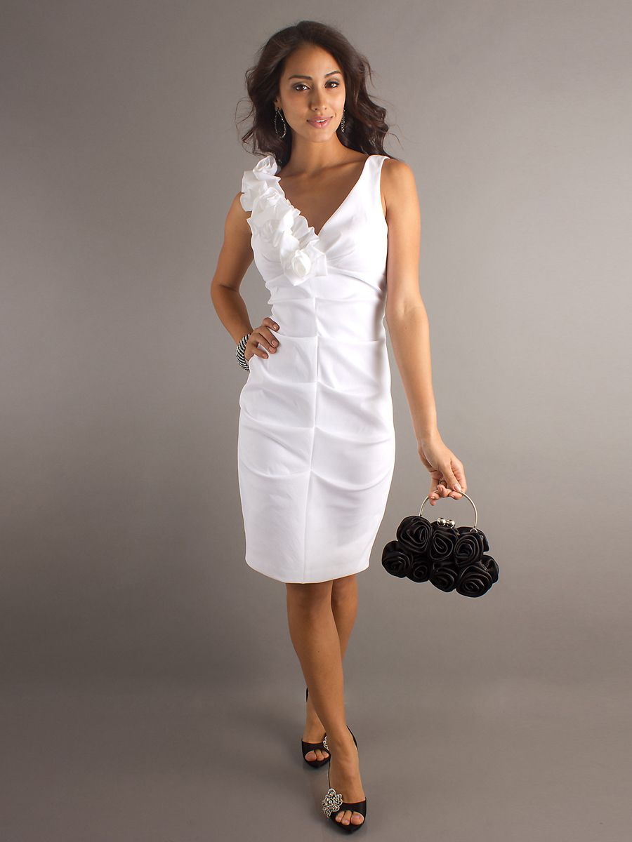 White Dress for Wedding Guest Country Dresses for