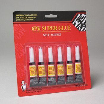 super glue - 6 pack Case of 72