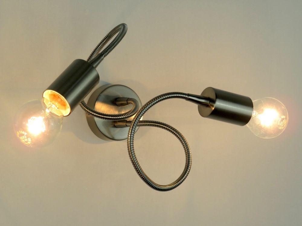Dettagli su applique moderno flessibile e salone acciaio lampada