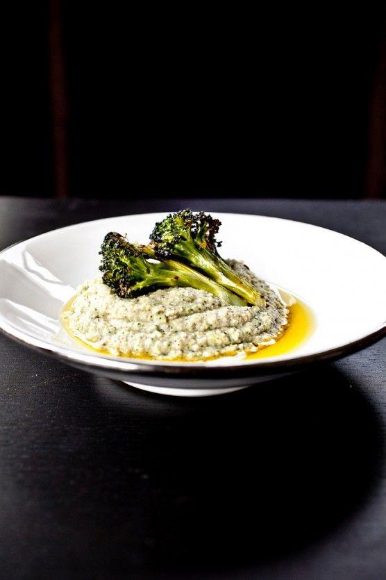 Roasted Broccoli Hummus (vegan)