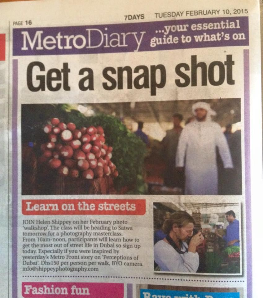 7 Days news paper in Dubai talking about my #DubaiPhotographyWalks. www.shippeyphotography.com  #Media #Svensk #Fotograf #photographer #Fashionfotograf #Fashionphotographer #Shippeyphotography #HelenShippey #Stockholmfotograf #Stockholm