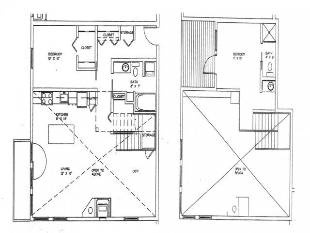 2 Bedroom 2 Bath Den Loft Floor Plan Of Property Eitel Building City Apartments Eitel Building City Apartments Floor Plans Loft Floor Plans City Apartment