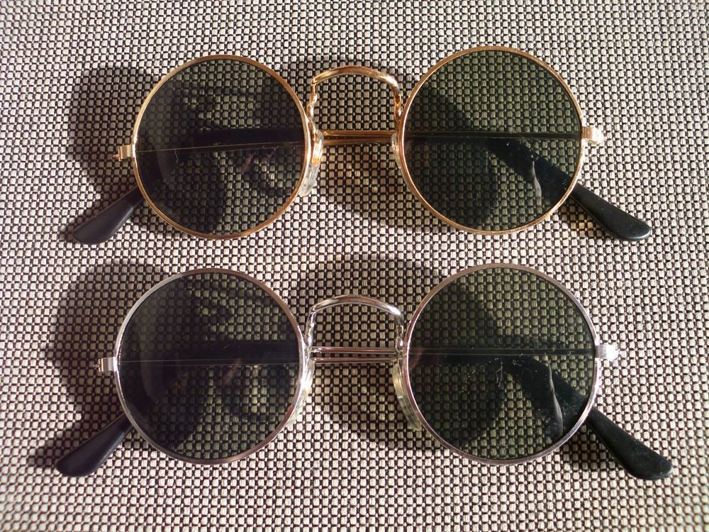 Lot Of 2 Sunglasses With Round Lenses 70s Style Glasses Set 60s seventies  Retro a1bfa93ed882