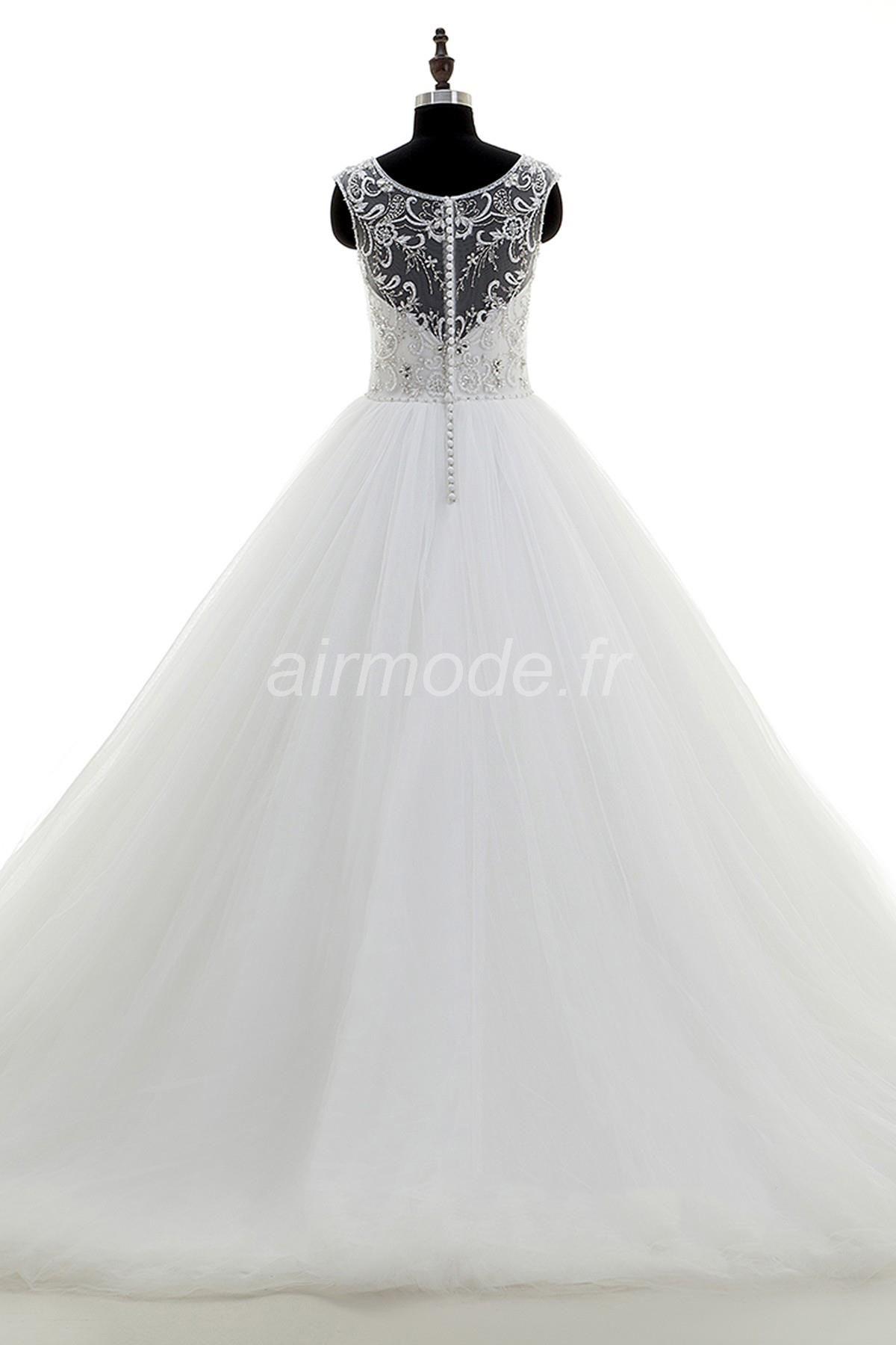 fournitures de airmode.frjardin / outdoor longue toutes tailles glamour & chute spectaculaire robe de balayage / brosse la robe de mariée de l'hiver Robes de Mariée Sexy  (2)