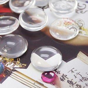hafl-round glass cabochons
