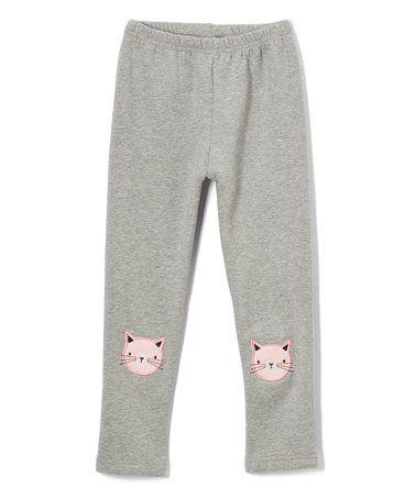 Look at this #zulilyfind! Gray Kitty Sweatpants - Toddler & Kids #zulilyfinds