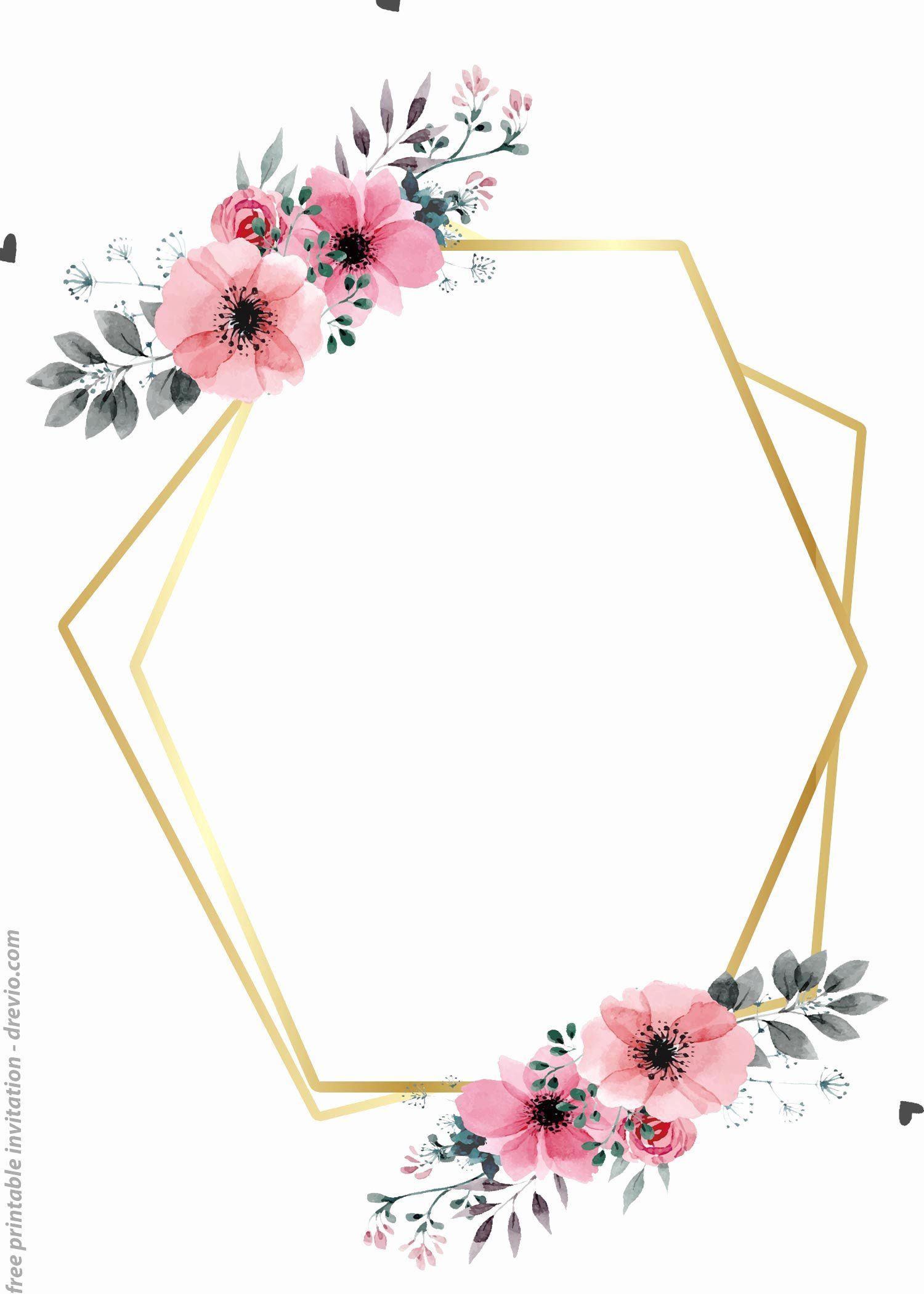 Flower Invitation Template New 24 Free Printable Floral Watercolor I Free Printable Birthday Invitations Free Printable Invitations Floral Invitations Template