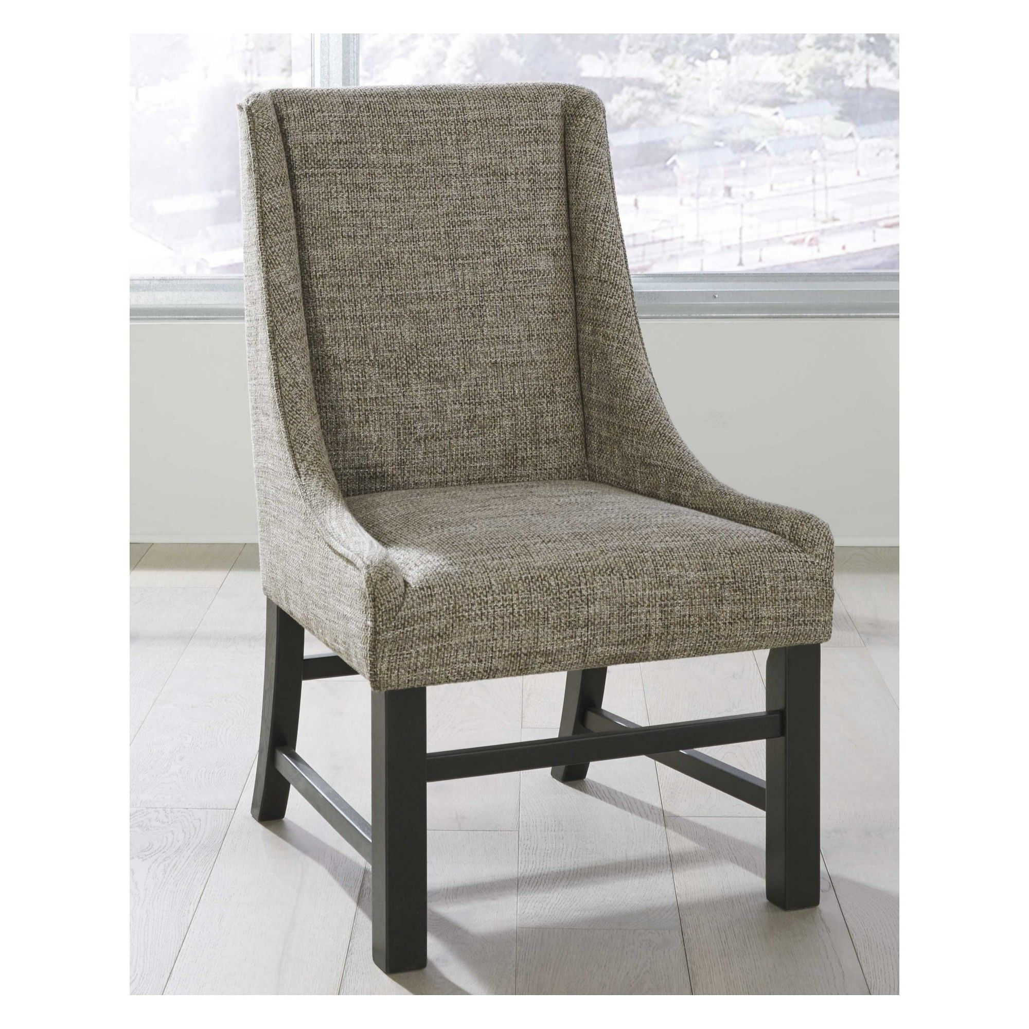 Set Of 2 Sommerford Dining Upholstered Arm Chair Brown