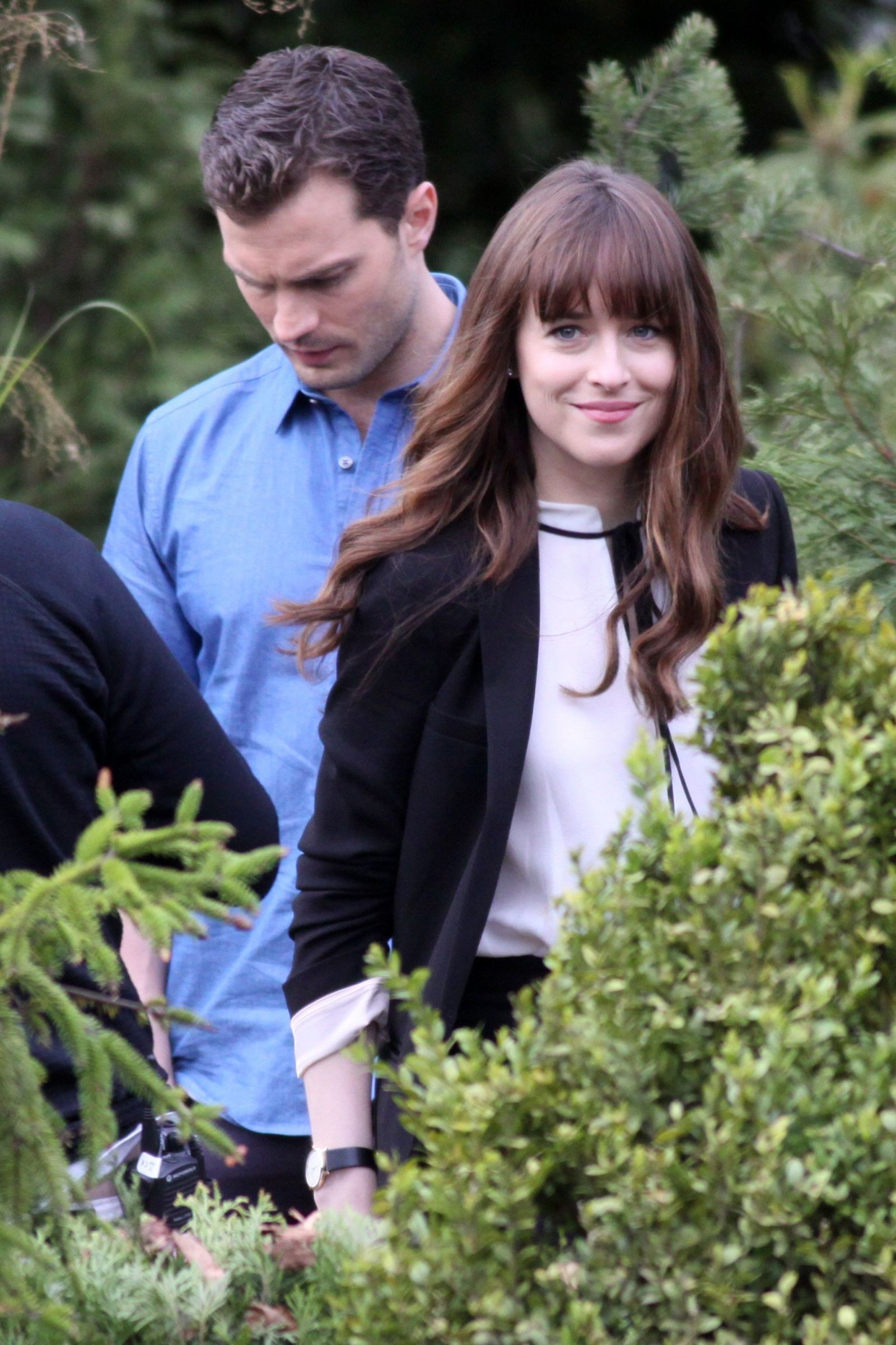 Dakota Johnson and Jamie Dornan Spotted With Wedding Rings on <i>Fifty Shades Darker</i> Set
