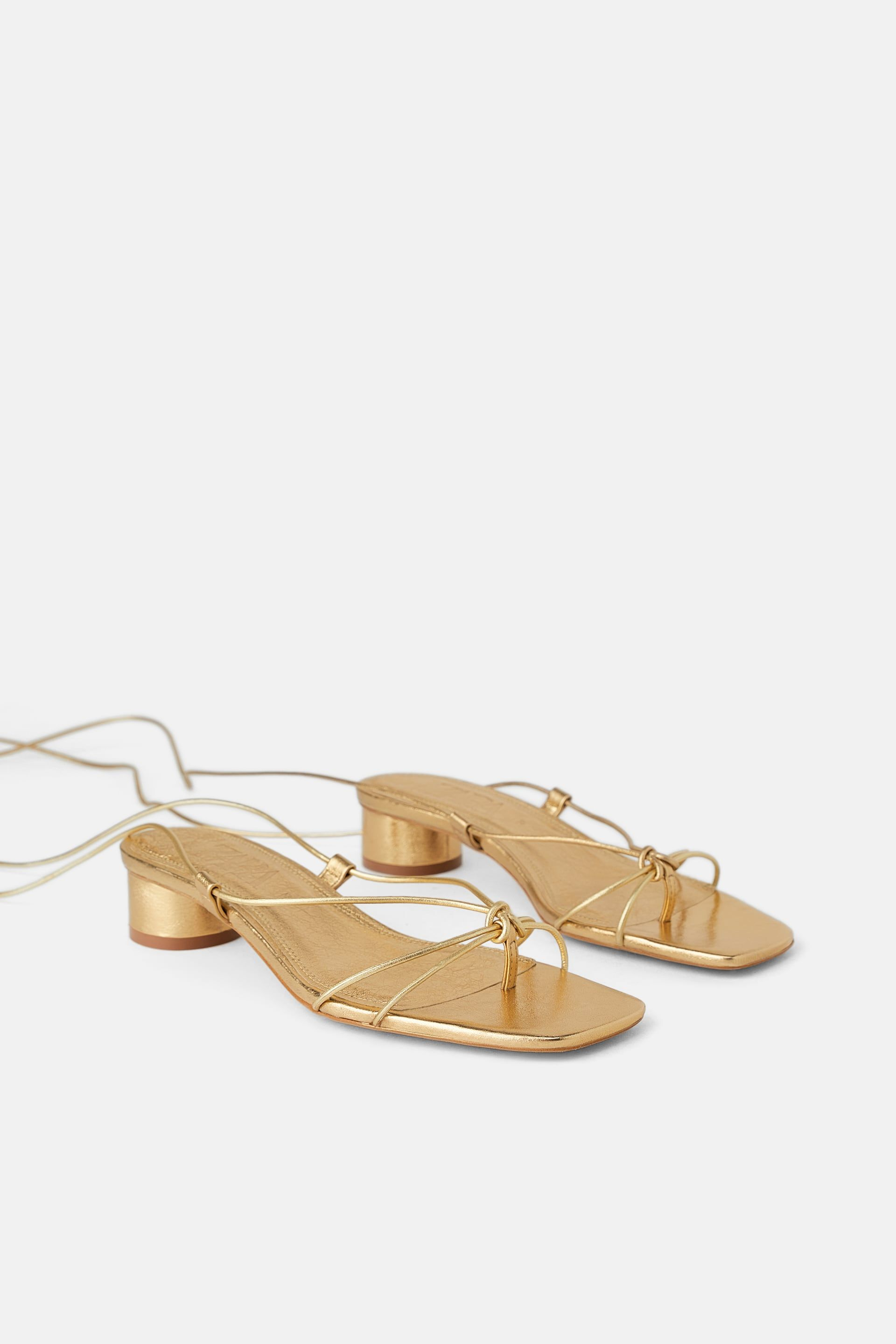 f9af449e21e36 HEELED LEATHER SANDALS WITH THIN STRAPS - NEW IN-WOMAN | ZARA United States