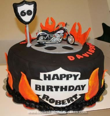 Coolest Homemade Harley Birthday Cake for a 60th Birthday Party