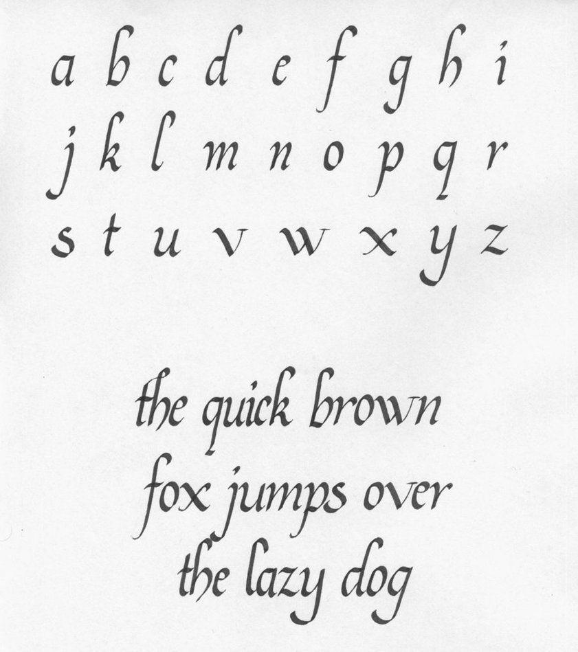 calligraphy   Uncial capitals - Italic Calligraphy   Calligraphy ...