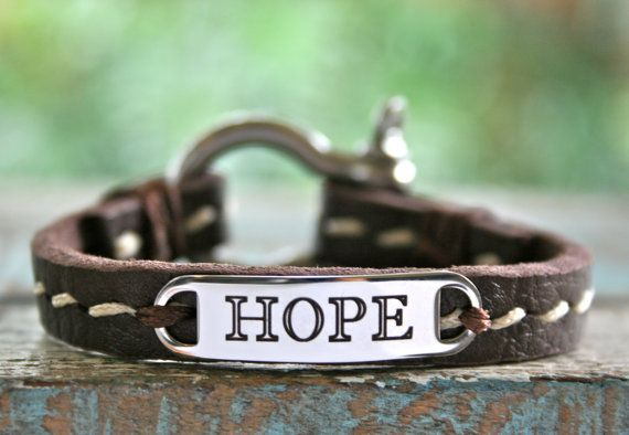 Hope Leather Bracelet With Anchor Shackle Clasp By Links Of Network Www Linksofhope
