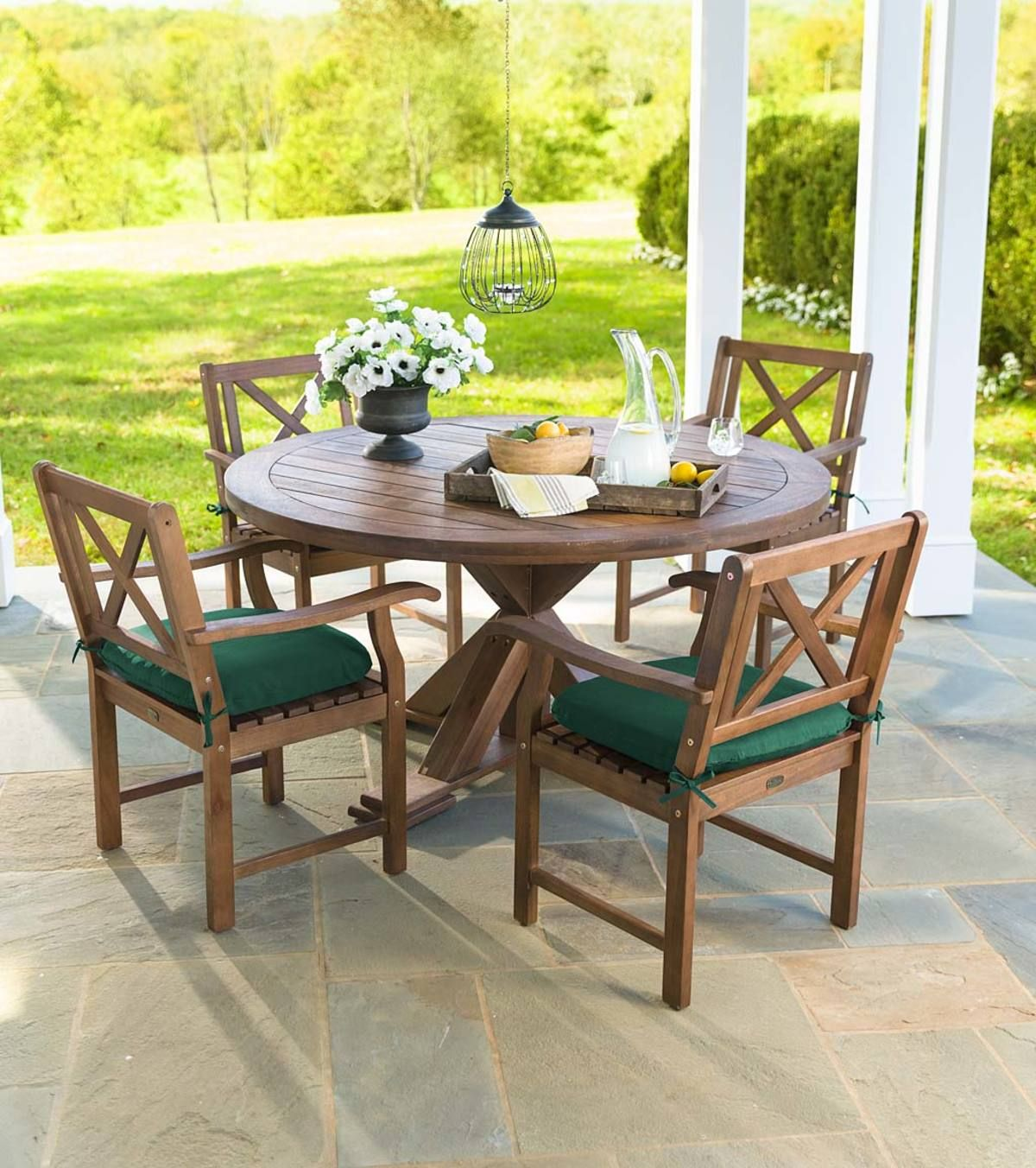 Claremont Eucalyptus Round Dining Table And Chairs In 2020 Round Table And Chairs Round Dining Table Outdoor Dining Spaces
