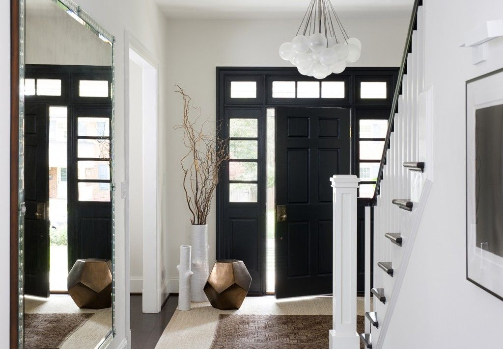Black and White Modern Colonial House Remodel Bethesda Maryland