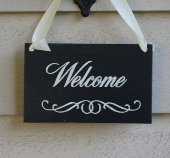 Welcome/Baby Sleeping/ Please Do Not Disturb Sign/Revesable/Handpainted/YOU Choose Color
