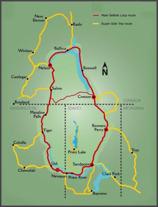 International Selkirk Loop Selkirk Idaho Travel Idaho Vacation