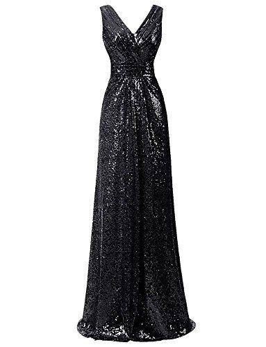 bf5d4e6ceb8 LanierWedding Gold Sequins Bridesmaid Dresses Plus Size Prom Dresses at  Amazon Women s Clothing store  https