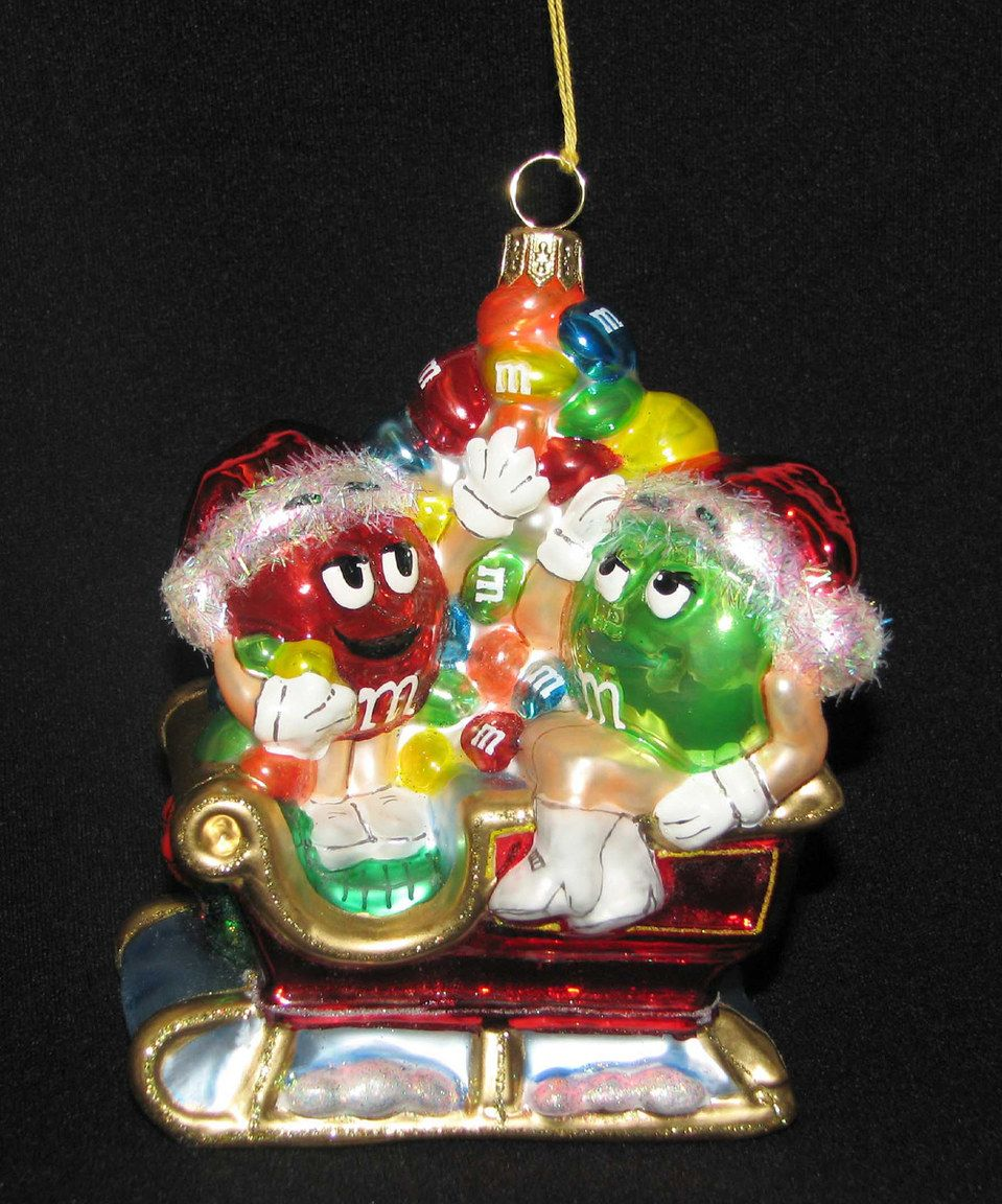 Look at this #zulilyfind! M&M's Sleigh Ornament by # ...