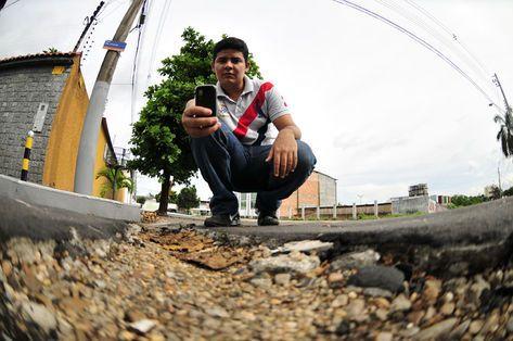 Estudante registra no Video Blog problemas de Manaus.